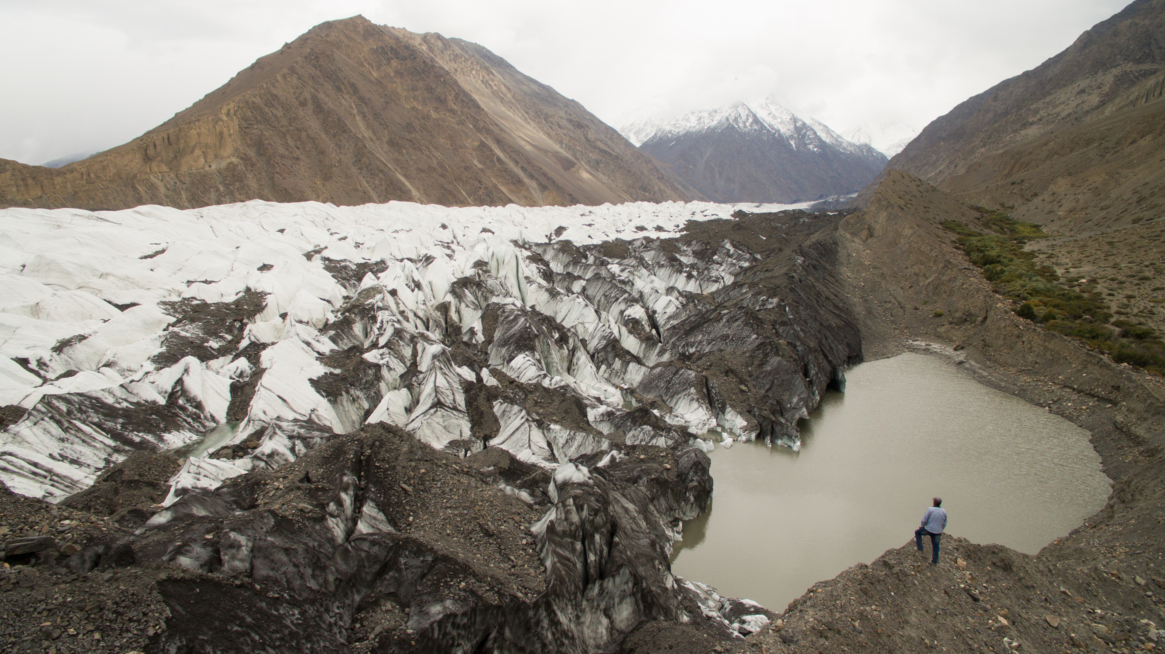 A view of Khurdopin glacier shot during the monitoring visit