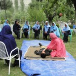First-Aid training for policewomen